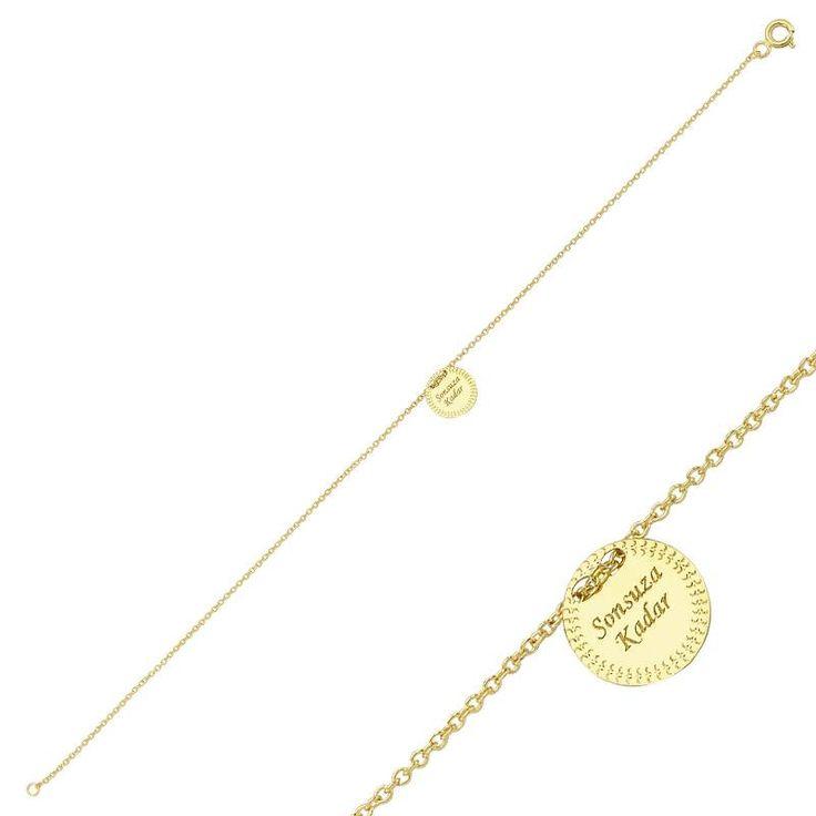 """Altın """"Sonsuza kadar"""" Bileklik #altınbaşlife #bileklik #altın #takı #tasarım #hediye"""