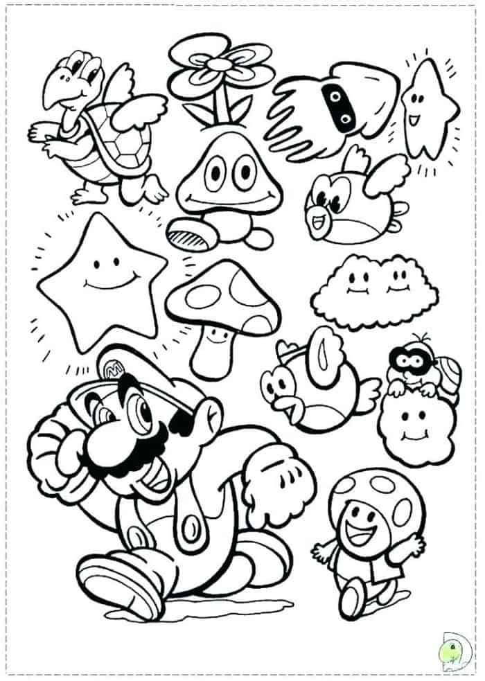Mario Coloring Pages Printable Free In 2020 Mario Coloring Pages, Super Mario  Coloring Pages, Coloring Books