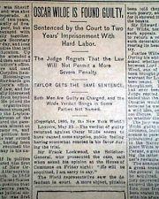 oscar wilde trials on the news 1895 - Google Search