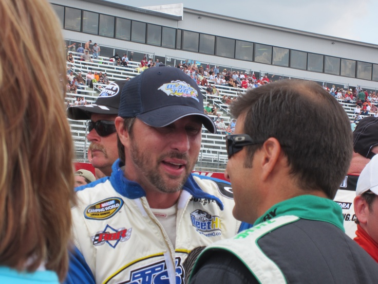 David Reutimann at NASCAR Camping World Truck Series race at Rockingham Speedway 04/15/2012