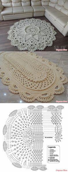 MAT szydełkowych sznurka poliestrowego.  - Knitting - Country mama