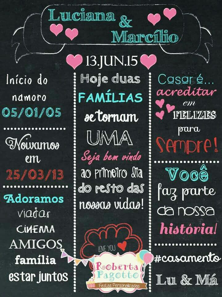 1000 Images About Chalkboard No Pinterest Casamento