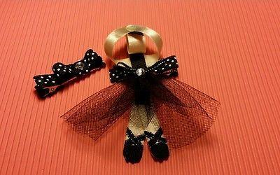 Gorgeous girls little ballerina hair clip set ,alligator clips hair accessories
