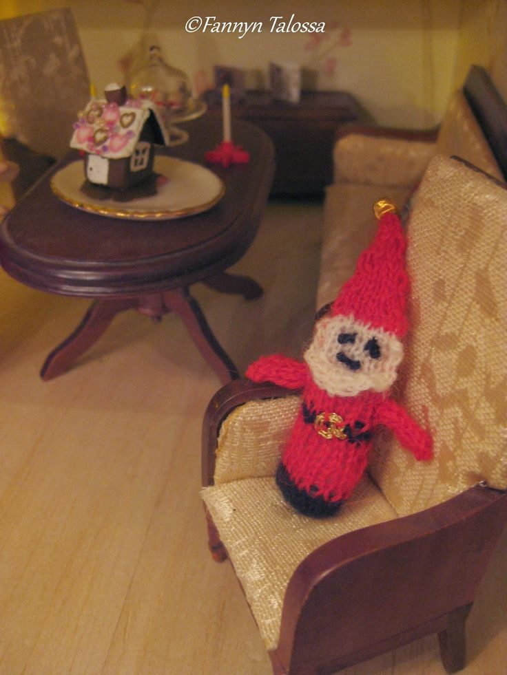 miniature knit elf