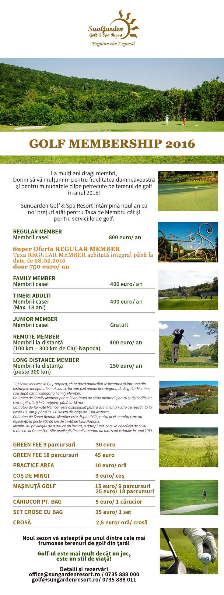 golf membership 2016