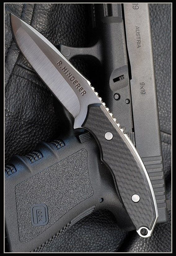 Hinderer Knives Flashpoint Black 3 Fixed S35VN Blade Knife