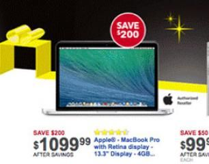 13.3-inch Apple MacBook Pro w/ Retina is $1099.99 at Best Buy on Black Friday - I4U News