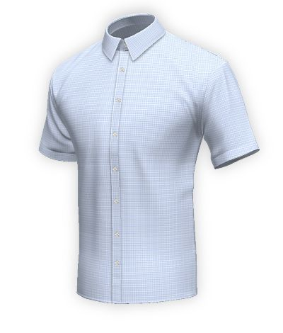 Short sleeved easy care shirt in 100% cotton: http://www.tailor4less.com/en-us/collections/custom-dress-shirts/blue-shirt-collection/audfield-short-sleeved-easy-care-shirt-in-100-cotton