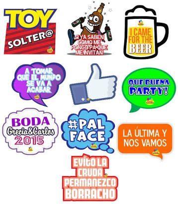 Letreros para fiestas paquetes de 15 pz $145 pesos