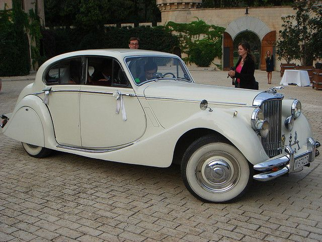 Vintage cream Rolls Royce