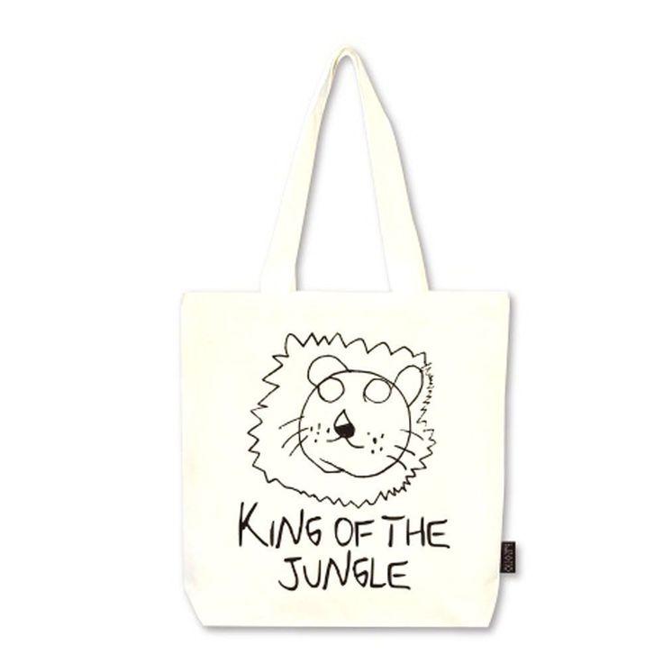 DesignComfics Ecobag-Wangjungle Canvas Shoulder Bag #DesignComfics