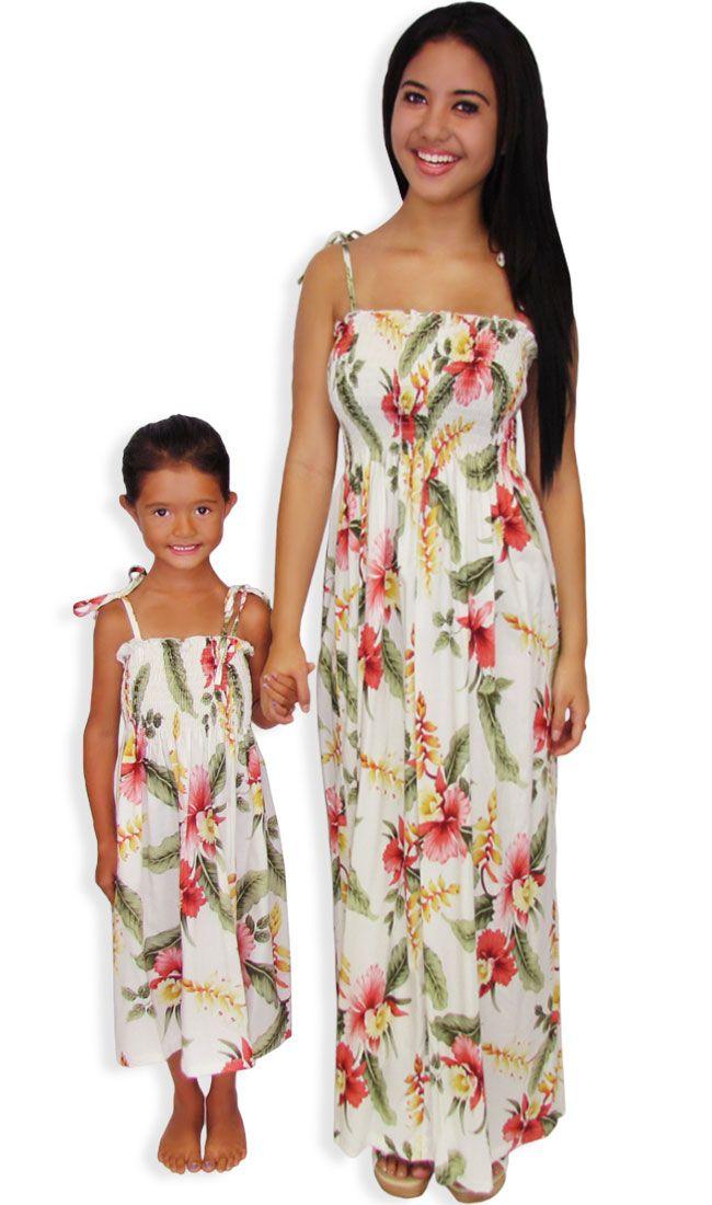 super cute matching hawaiian dresses for girls and women