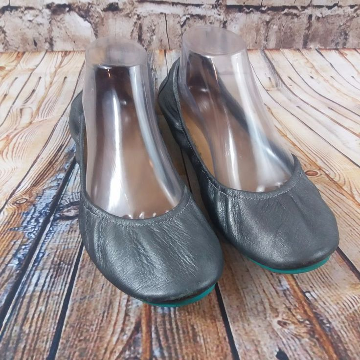 tieks by Gavrieli Metallic Pewter Ballet Flats 11 Womens Flexible Shoes Travel  #Tieks #BalletFlats