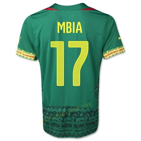 Maillot de foot Cameroun 2014 Coupe Du Monde MBIA Domicile - http://www.espace-foot.com/coupe-du-monde-2014-c-35