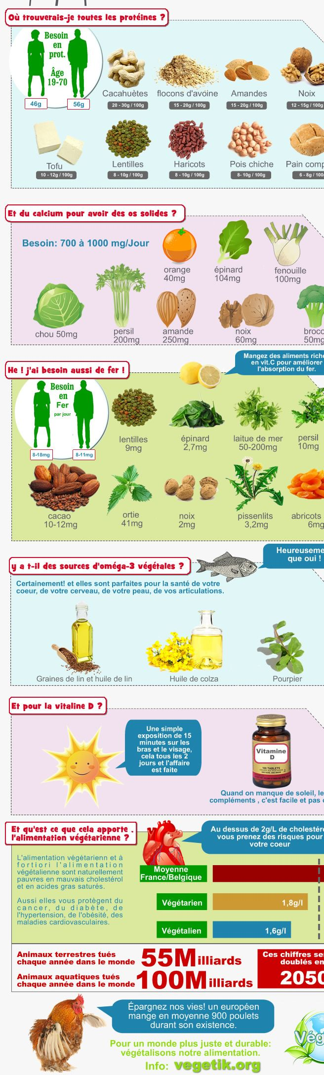 Où trouver fer, calcium, protéines, ailleurs que dans la viande et les produits laitiers  : association végétarienne Belgique Wallonie Bruxelles