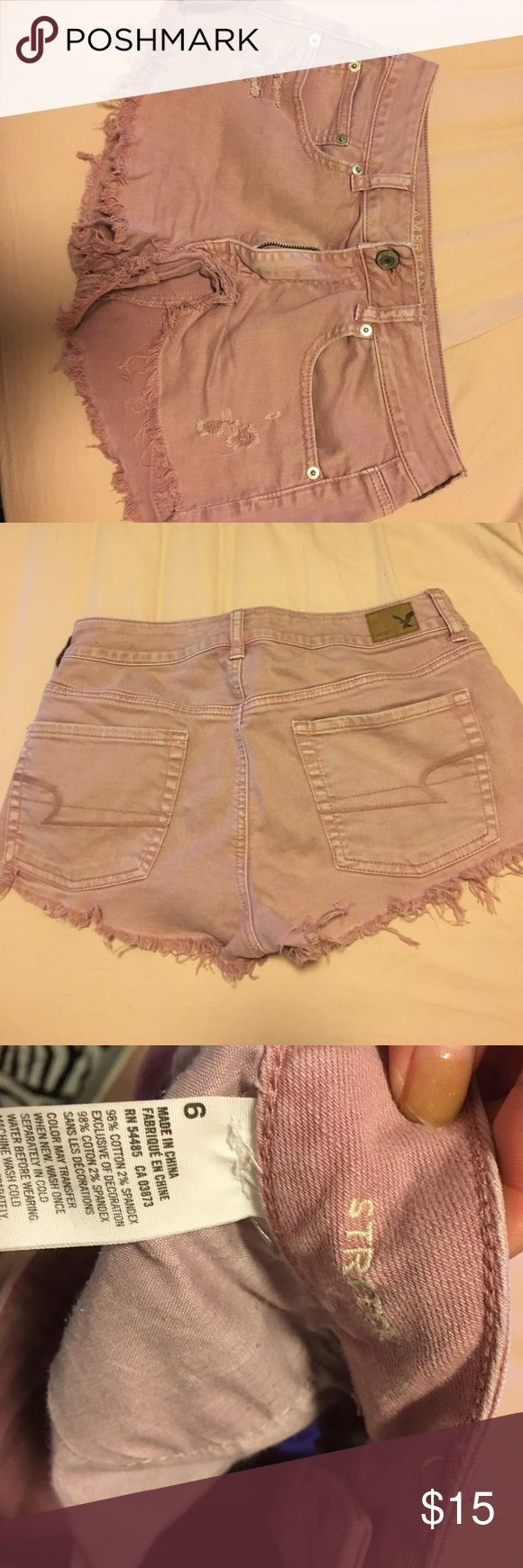 Jean shorts light purple jean shorts hip fit American Eagle Outfitters Shorts Jean Shorts