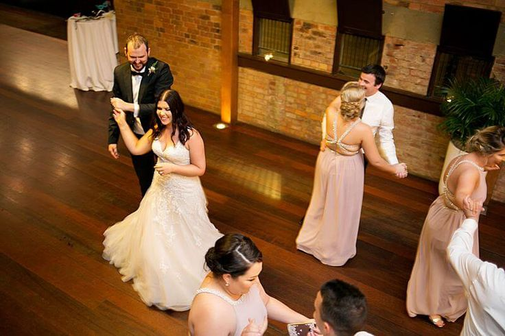 Eagle Farm Racecourse - Bridal Party Dancing  | Captured by Milque | G&M Event Group #WeddingDJ #BrisbaneWedding #BrisbaneRacingClub #FunWedding #happybride #dancing #wedding #reception