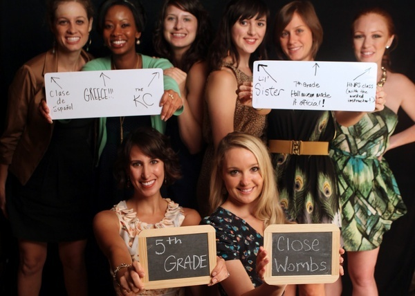 fun photo pic of bridesmaids- how they met the bride ... !!