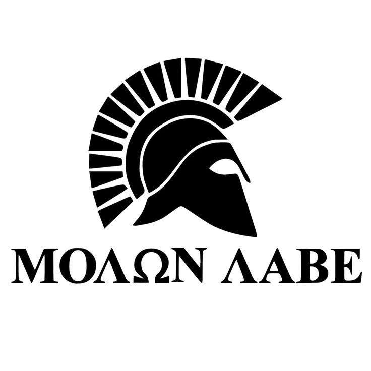 Love the molon labe spartan helmet sticker. Get yours at funfarestencil.com…