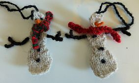 This is an adorable mini snowman pattern for the perfect Christmas ornament.