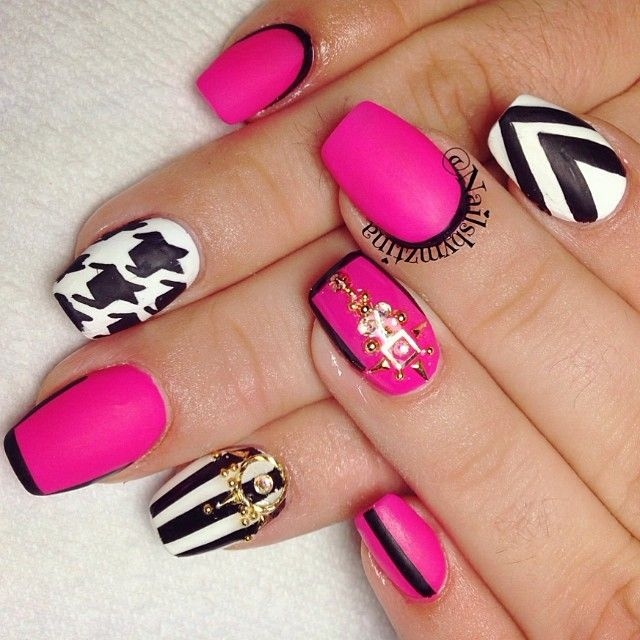 Photo taken by nailsbymztina - - 476 Best Cute Extra Girly Nails Images On Pinterest Make Up