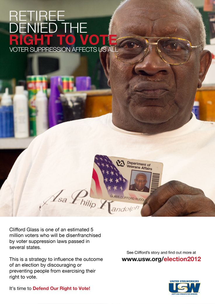 Clifford Glass is one out of millions of voters who be disenfranchised by voter suppression laws.  See Clifford's story and find out more at www.usw.org/election2012.    #election2012 #votersuppresion