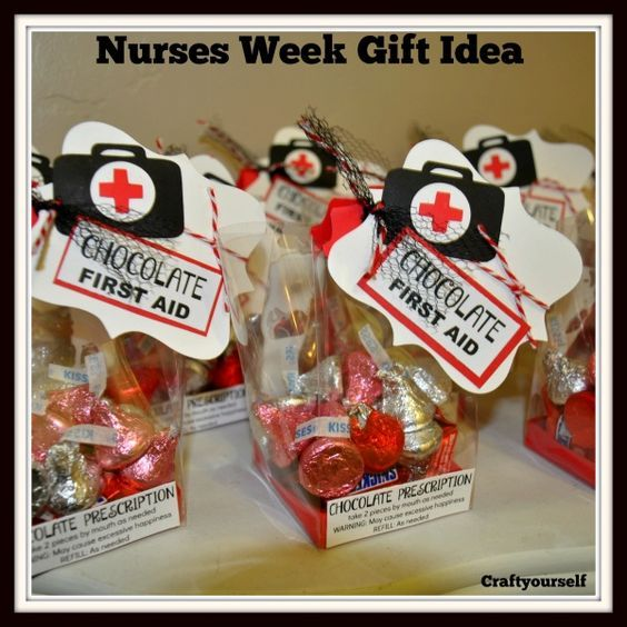 chocolate first aid gift idea for nurses week