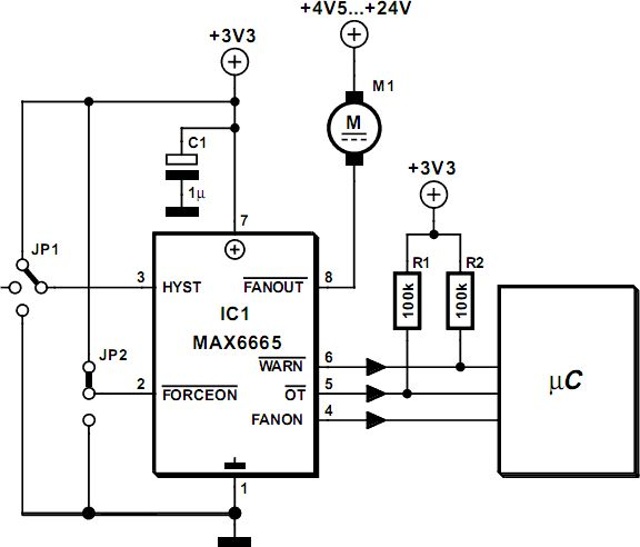 fan controller circuit diagram