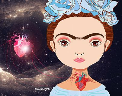 "Check out new work on my @Behance portfolio: ""frida heart space"" http://be.net/gallery/36645041/frida-heart-space"