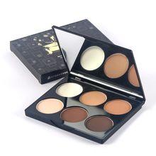 Base em pó Da Marca 6 Cores Mulheres maquiagem Pó Facial Contorno Destaque Sombra Em Pó Palette Cosméticos 514 alishoppbrasil