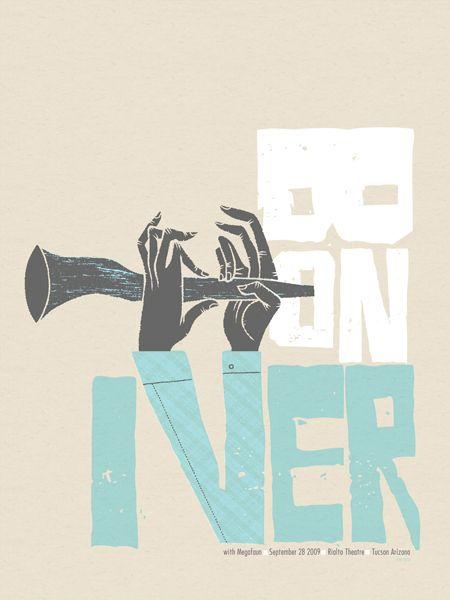Bon Iver screenprint poster by Spike Press. $25