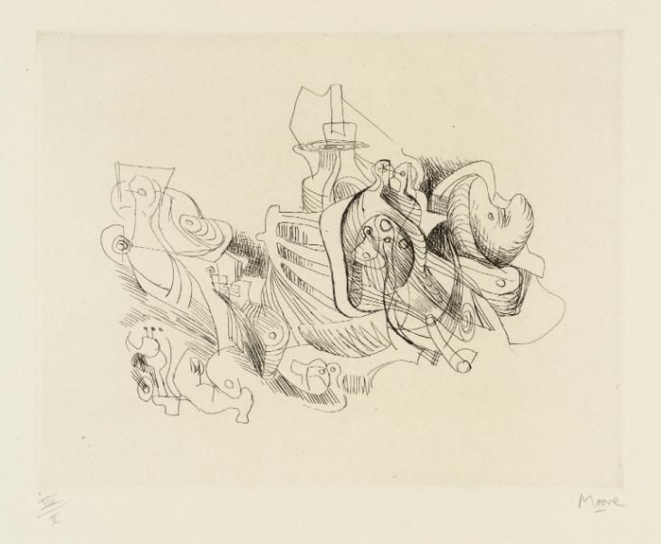 Henry Moore OM, CH 'Fantasy', 1967–8 © The Henry Moore Foundation. All Rights Reserved