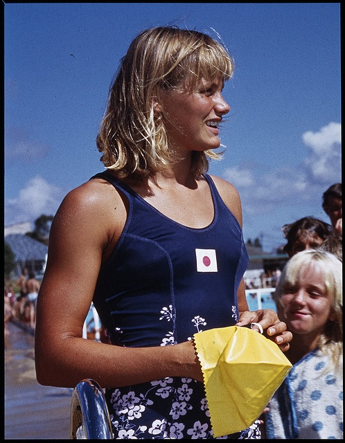 Shane Gould Australian Olympic Swimming Champion - 5 individual medals   3 gold 1 silver 1 bronze. Shane is the only swimmer to hold all freestyle world records, 100 200 400 800 1500 and the 200m Individual Medley at the same time. She retired from competitive swimming at the age of sixteen. She was awarded Australian of the Year in 1972