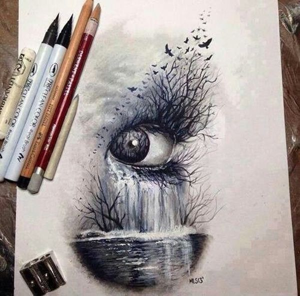 35 Cool And Creative Drawing Ideas For Teenagers Eye Art Cool Drawings Drawings Artistic & unique nachal(a) chitat. eye art cool drawings drawings