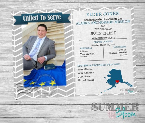 Called To Serve LDS Missionary Farewell Invitation &