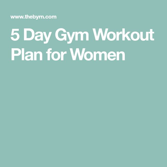 The 25+ best 5 day workout plan ideas on Pinterest In gym - weekly workout plan