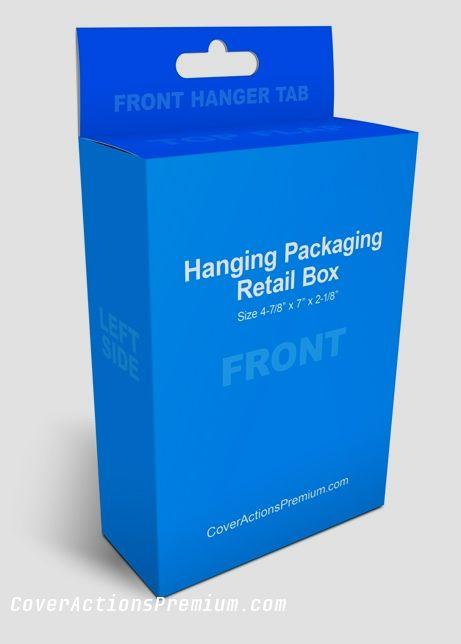 Peggable (Hangable) Box Mockup Photoshop Cover Actions