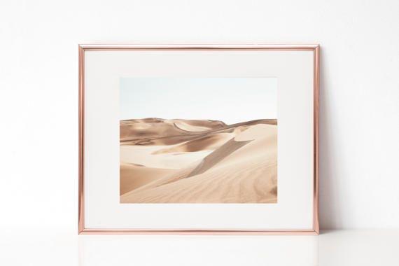 Desierto moderna impresión impresión de paisaje de desierto