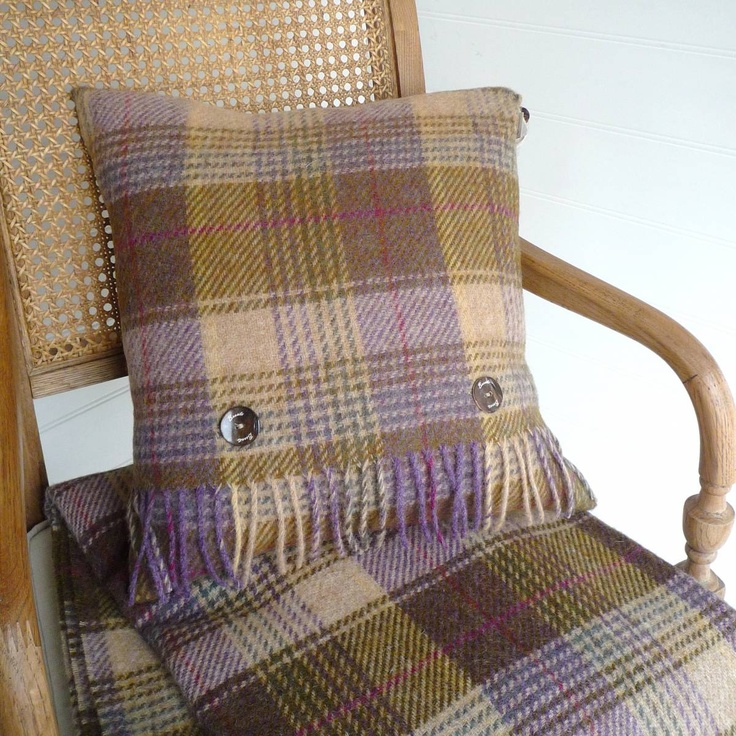 Bronte wool – Hunting Tower Lilac Wool Cushion £36.95. Want!!!
