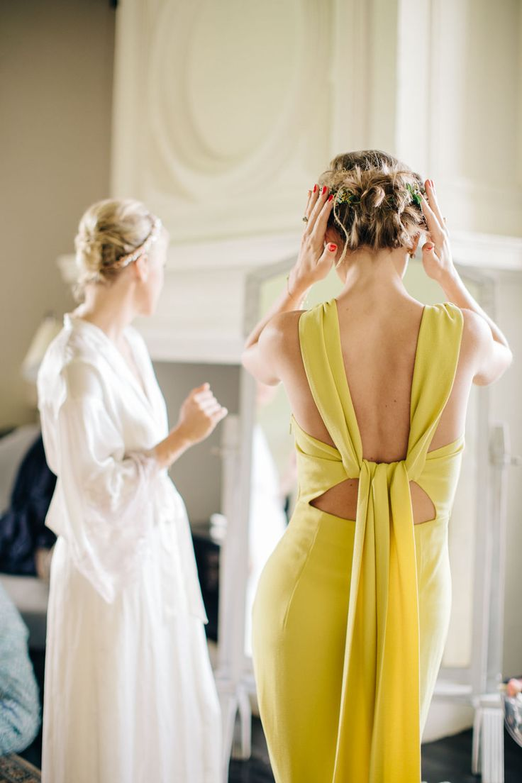 Mustard Yellow Bridesmaids Dresses from Whistles