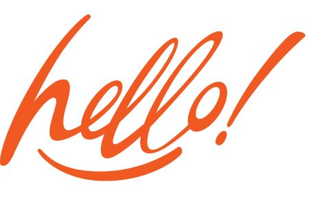 Hello in stylish text