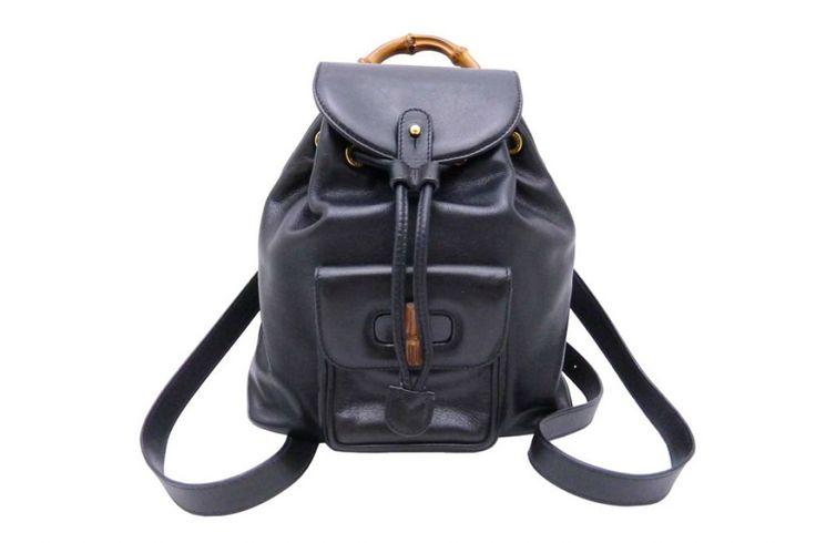 Gucci backpack bamboo   #112132-