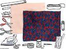 5. Ourlet du bas de la jupe : marquer un ourlet de 3 cm dans le bas de la jupe avec le fer. Couper une bande de ruban colle de 2 cm de large et de 1, 50 m de lo...