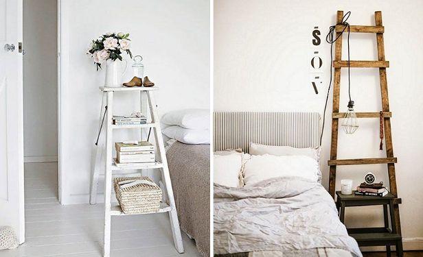 slaapkamer inspiratie bijzondere nachtkastjes interieur