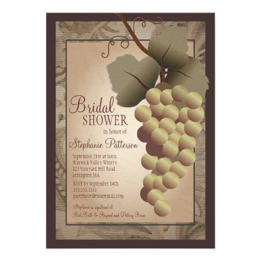 68 best italian themed wedding shower images on pinterest salads old world tuscan grapevine wine bridal shower card filmwisefo