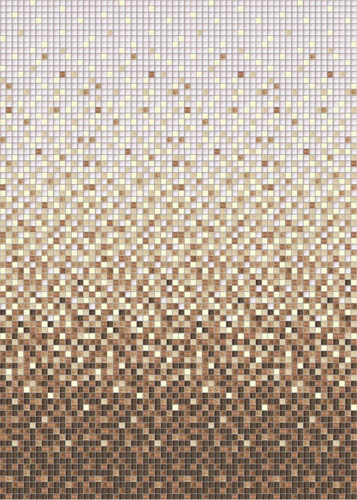 Papel mural mosaico cafe y beige