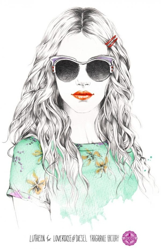 Fashion Illustrations by French illustrator Lutheen