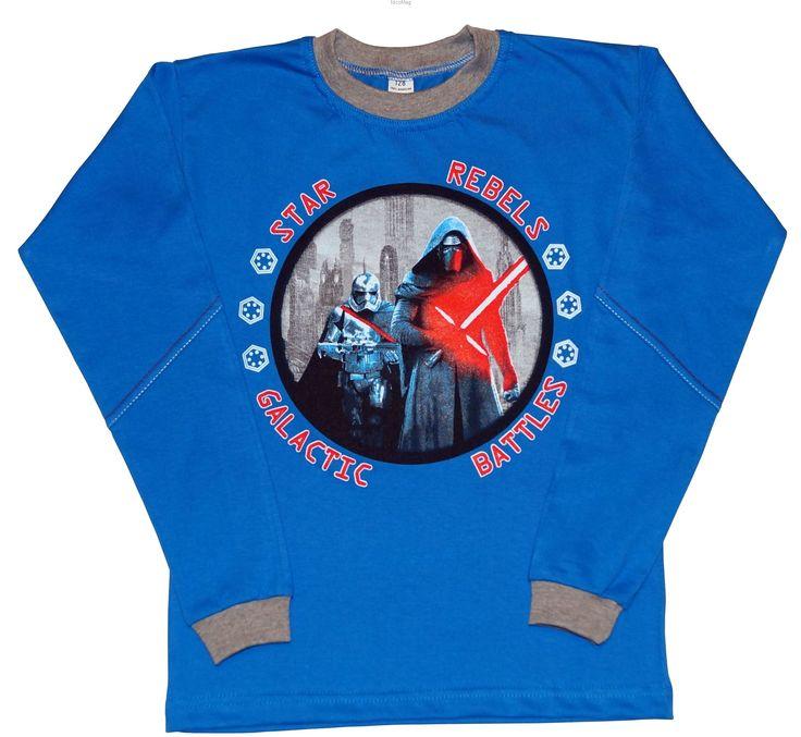 Bluzka Star Rebels niebieska-chopiec