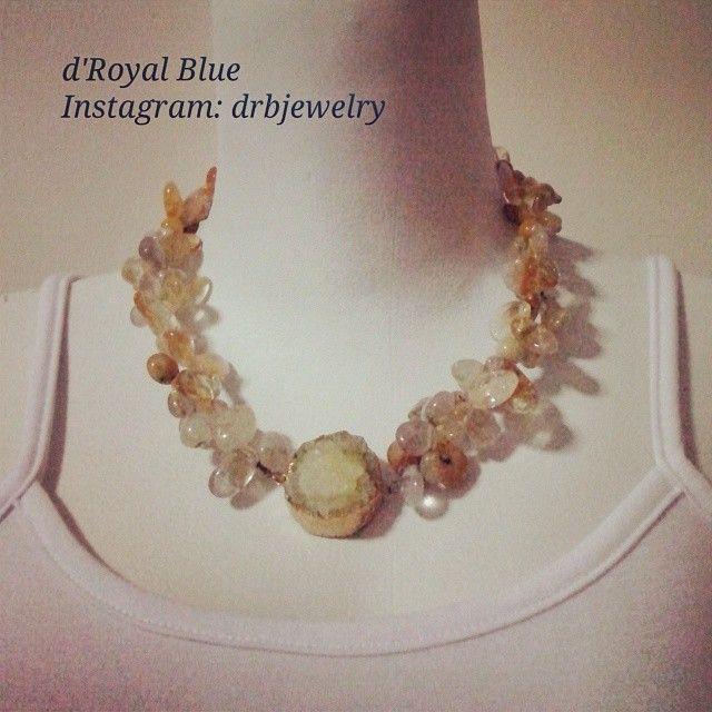 #semiprecious stones #necklace with #citrine #kalung