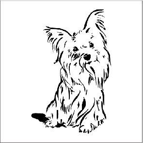 Adesivo Decorativo Geladeira Cachorro Yorkshire Desenhos